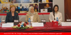 Ms.-Doogan-Shaikha-Lulwa-and-Media-consultant-to-the-conference-Lujein-Ashi1